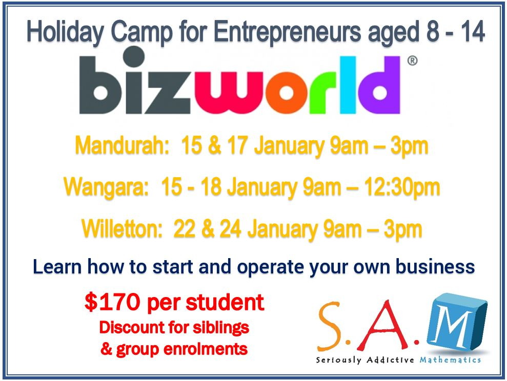 S.A.M Holiday Camps – Featuring BizWorld